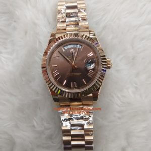 Rolex Day- Date Gold Roman Marking Rose Gold Swiss Automatic Watch