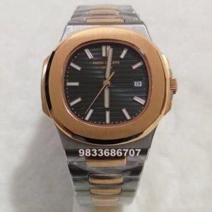 Patek Philippe Nautilus Dual Tone Black Swiss Automatic Watch