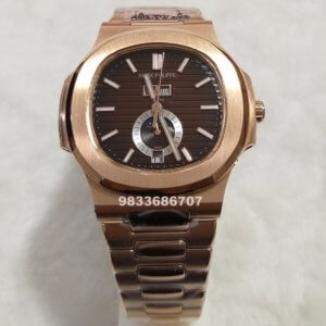Patek Philippe Nautilus Annual Calendar Rose Gold Brown Dial Swiss Automatic Watch