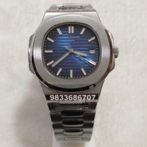 Patek Philippe Nautilus Steel Blue Dial Swiss Automatic Watch