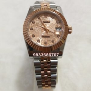 Rolex Date-Just Rose Gold Dial Swiss Automatic Women's Watch