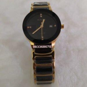 Rado Centrix Gold & Black Ceramic Women's Watch
