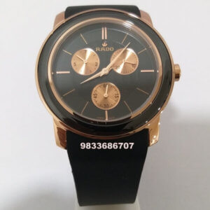Rado Dia Star Rose Gold Rubber Strap Men's Watch