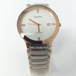 Rado Centrix Gold With Silver White Dial Men's Watch