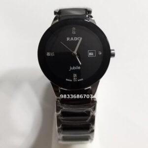 Rado Centrix Silver & Black Ceramic Women's Watch