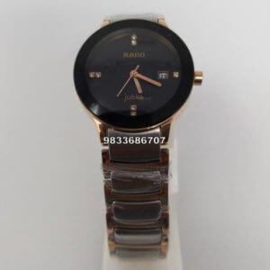 Rado Centrix Rose Gold & Silver Women's Watch
