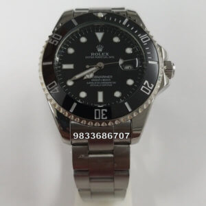 Rolex Submariner Silver Black Dial Automatic Men's Watch
