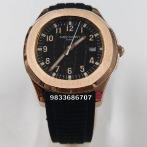 Patek Philippe Aquanaut Rose Gold Swiss Automatic Watch