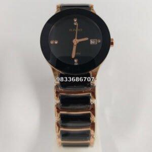 Rado Centrix Rose Gold & Black Women's Watch