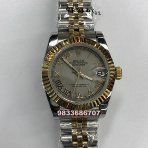 Rolex Date-Just Roman Grey Dial Automatic Women's Watch