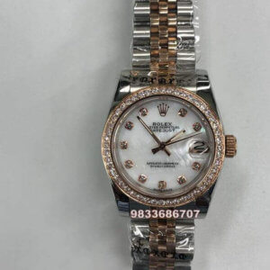 Rolex Date-Just Diamond Rose Gold Swiss Automatic Women's Watch