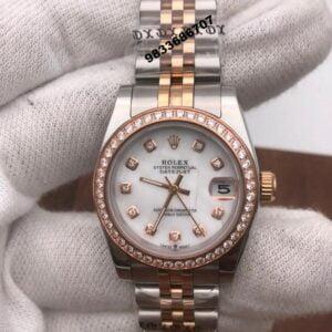 Rolex Date-Just Diamond Rose Gold Swiss Automatic Women's Watch