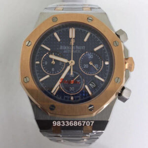 Audemars Piguet Chronometer Blue Dial Dual Tone Men's Watch