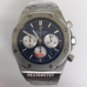 Audemars Piguet Royal Oak Chronograph 45mm Blue Dial Silver Men's Watch