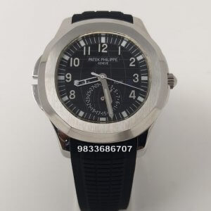 Patek Philippe Aquanaut Steel Black Dial Rubber Strap Swiss Automatic Watch