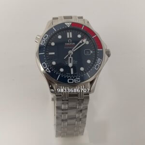 Omega Seamaster Diver Professional Red & Blue Bezel Swiss Automatic Watch