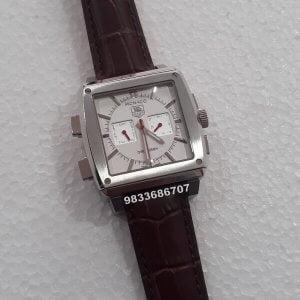 Tag Heuer Monaco 69 Dual White Dial Chronograph Men's Watch