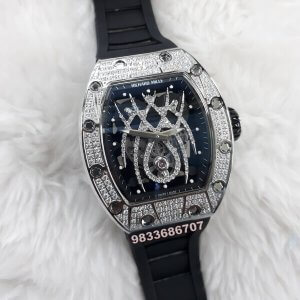 Richard Mille 19-01 Spyder Silver & Diamond Swiss ETA Watch