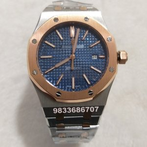 Audemars Piguet Royal Oak Dual Tone Blue Dial Swiss Automatic Watch