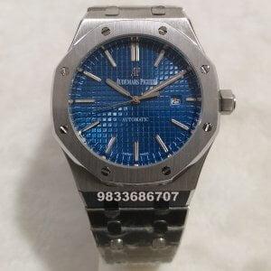 Audemars Piguet Royal Oak Silver Blue Dial Swiss Automatic Watch