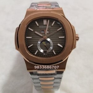 Patek Philippe Nautilus Annual Calendar Dual Tone Brown Dial Swiss Automatic Watch