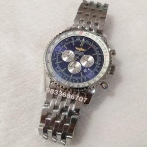 Breitling Navitimer Chronograph Steel Blue Dial Men's Watch