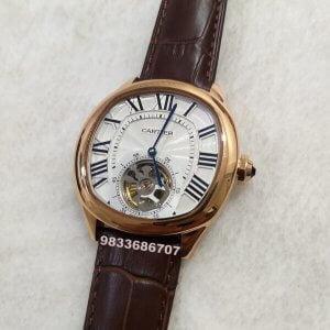Cartier Day Date White Tourbillon Swiss Automatic Men's Watch