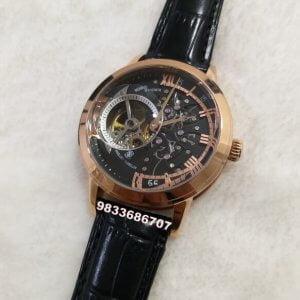 Vacheron Constantin Maître Cabinotier Retrograde Armillary Rose Gold Tourbillon Black Swiss Automatic Watch
