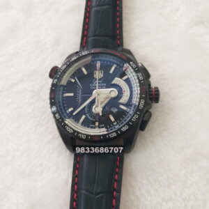 Tag Heuer Grand Carrera Calibre 36 Leather Strap Chronograph Men's Watch