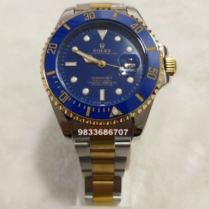 Rolex Submariner Dual Tone Blue Dial Automatic Men's Watch