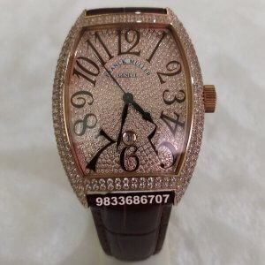 Franck Muller Casablanca Rose Gold Diamond Swiss ETA 7750 Valjoux Movement Automatic Watch