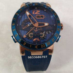 Ulysse Nardin El Toro Blue Rose Gold Swiss Automatic Watch