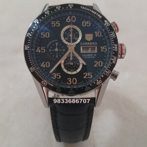 Tag Heuer Grand Carrera Calibre 16 Leather Strap Chronograph Men's Watch