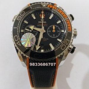Omega Seamaster Planet Ocean Master Chronometer Grey Swiss ETA 2250 Valjoux Black Automatic Chronograph Watch