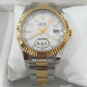 Rolex Date-Just Yellow Rolesor Swiss ETA Caliber 3235 Movement Watch