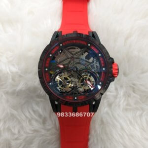 Roger Dubuis Excalibur Double Flying Tourbillon Red Swiss Automatic Watch