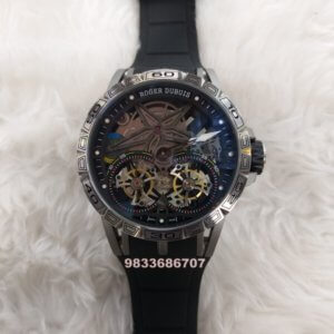 Roger Dubuis Excalibur Double Flying Tourbillon Black Swiss Automatic Watch