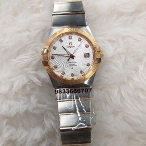 Omega Constellation Double Eagle Rose Gold Bezel Swiss ETA 2250 Valjoux Movement Watch
