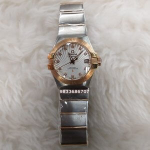 Omega Constellation Double Eagle Rose Gold Bezel Swiss ETA 2250 Valjoux Movement Women's Watch