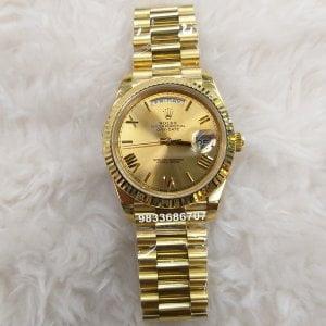 Rolex Day-Date Full Gold Roman Marking Swiss ETA 3135 Valjoux Movement Automatic Watch