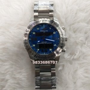Breitling Cockpit Chronograph Blue Dial Watch