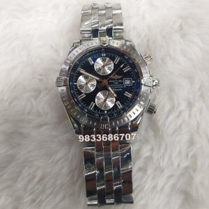 Breitling Super Avenger II Black Dial Swiss ETA 7751 Valjoux Movement Chronograph Watch