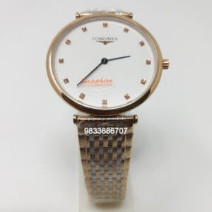 Longines La Grande Classique White Dial Dual Tone Watch