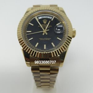 Rolex Day-Date Gold Black Dial Swiss Automatic Watch