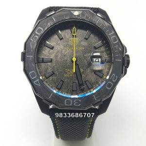 Tag Heuer Carbon Aquaracer Yellow Swiss Automatic Watch