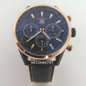 Tag Heuer 1969 Chronograph Black Leather Strap Limited Edition Men's Watch