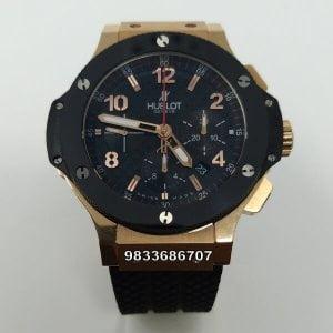 Hublot Big Bang Ceramic Bezel Rose Gold Swiss ETA 7750 Valjoux Movement Automatic Watch