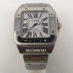 Cartier Santos 100 Steel Swiss Automatic Watch