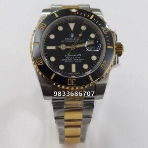 Rolex Submariner Dual Tone Black Dial Swiss ETA 7750 Valjoux Automatic Watch