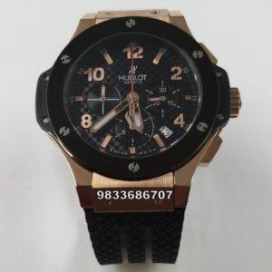 Hublot Big Bang Rose Gold Ceramic Bazel Chronograph Men's Watch